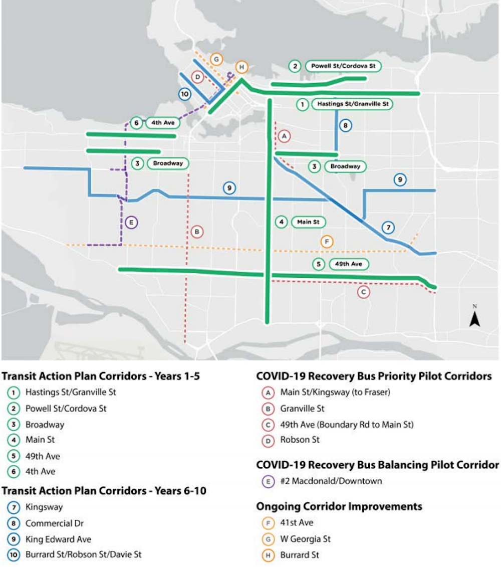 vancouver climate emergency action plan bus priority