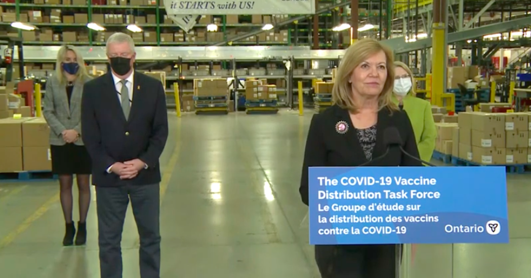 Ontario working with other sectors to store, distribute, transport COVID-19 vaccine