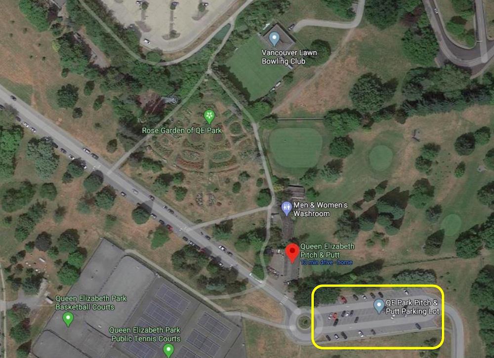 queen elizabeth park pitch and putt parking lot