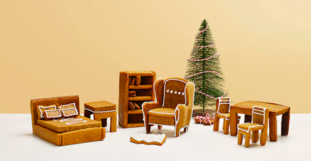 Assemble classic IKEA furniture as gingerbread houses this holiday