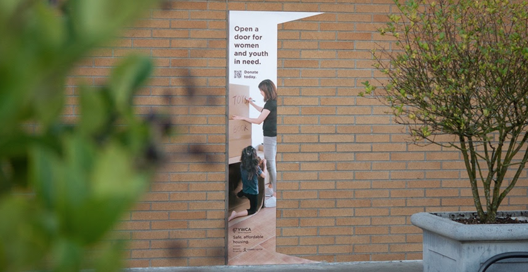 YWCA campaign shows how donations open doors for women in need