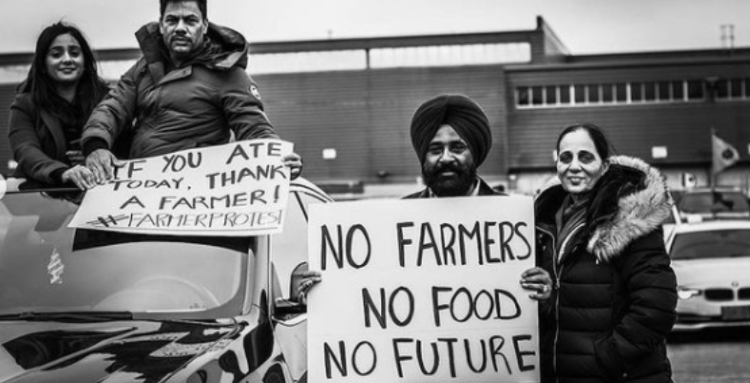 Over 1,500 cars participate in Toronto rally to support Indian farmers (PHOTOS)