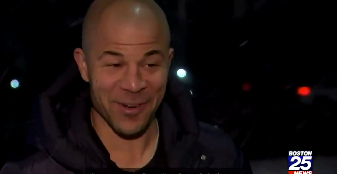 Boston TV news unknowingly interviews Jarome Iginla about the weather (VIDEO)