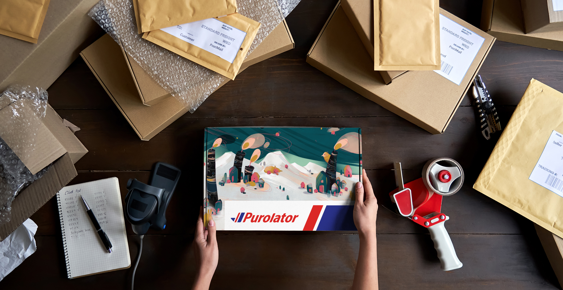 Ship your gifts in style with these local artist–designed boxes