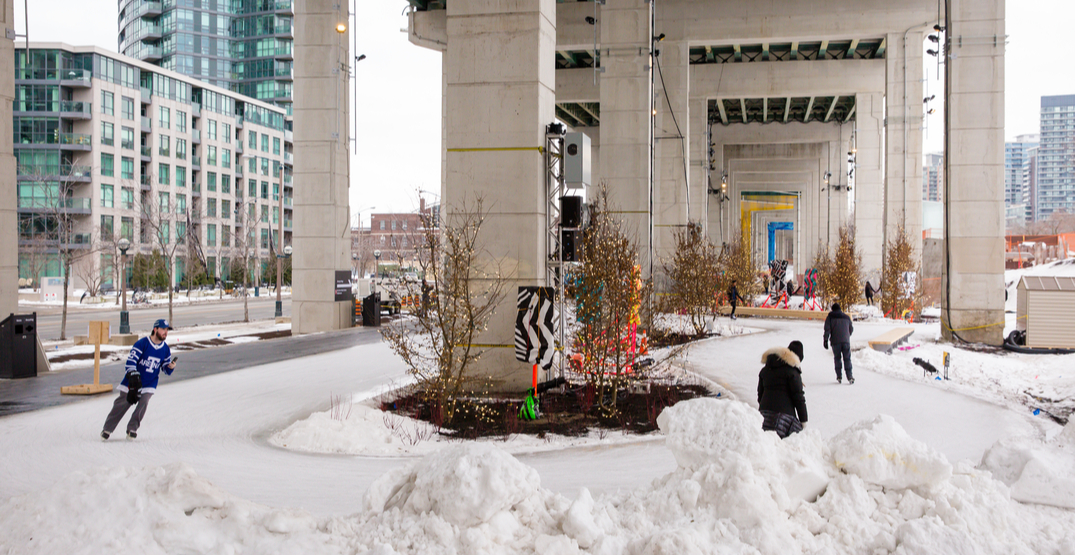 You can skate for FREE under the Gardiner Expressway this month