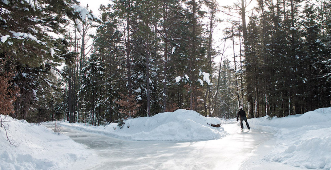 Skate through this enchanted forest in Quebec all winter