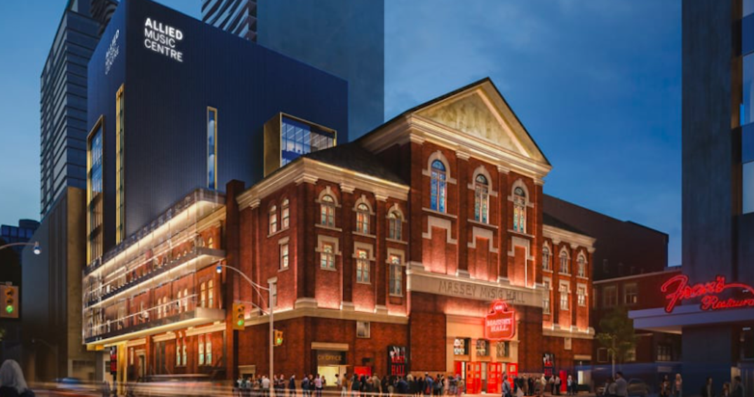 Toronto's Massey Hall will soon have a 7-storey music complex (RENDERINGS)
