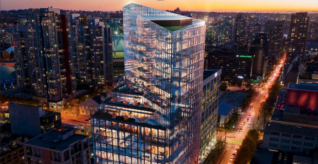 22-storey office tower proposed near Victory Square in downtown Vancouver