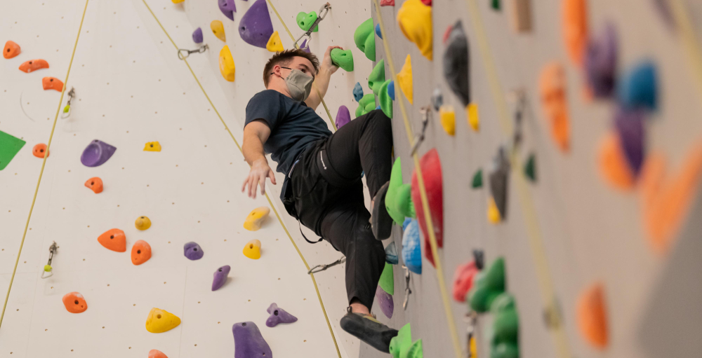 We trained like an Olympian at this new massive indoor climbing wall (PHOTOS)