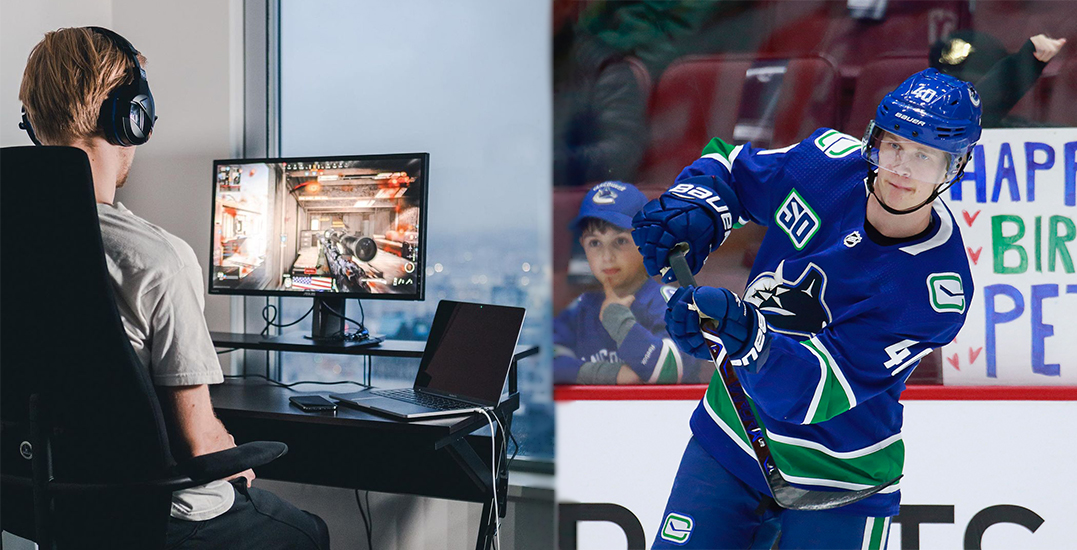 Elias Pettersson is streaming for the first time ever on Twitch today