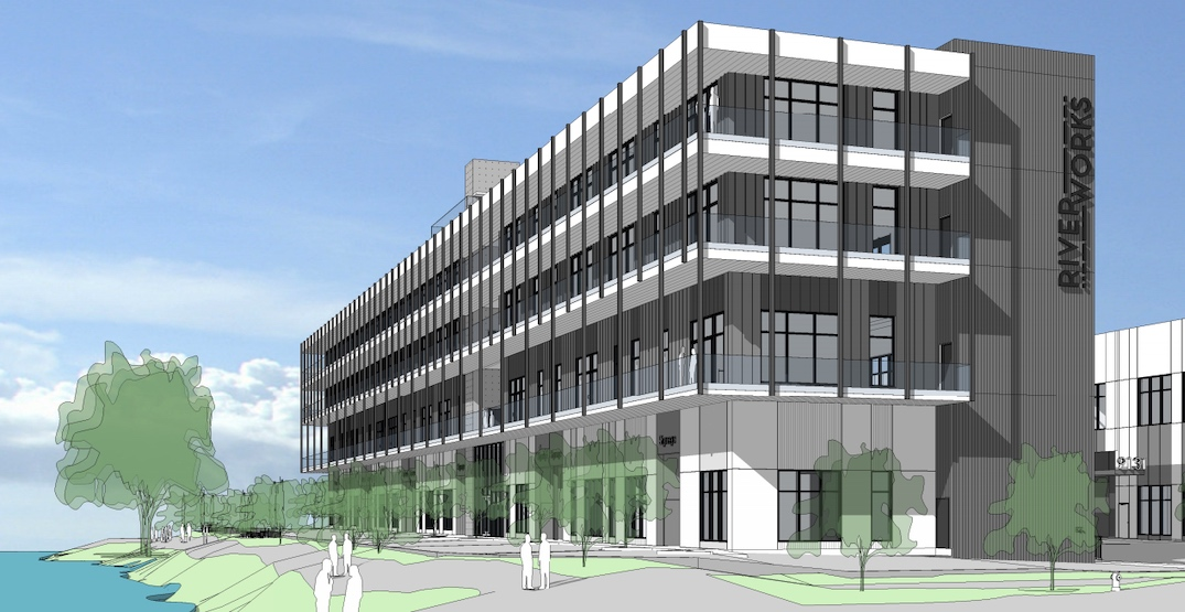 Vertical industrial space with office proposed next to Fraser River in Vancouver