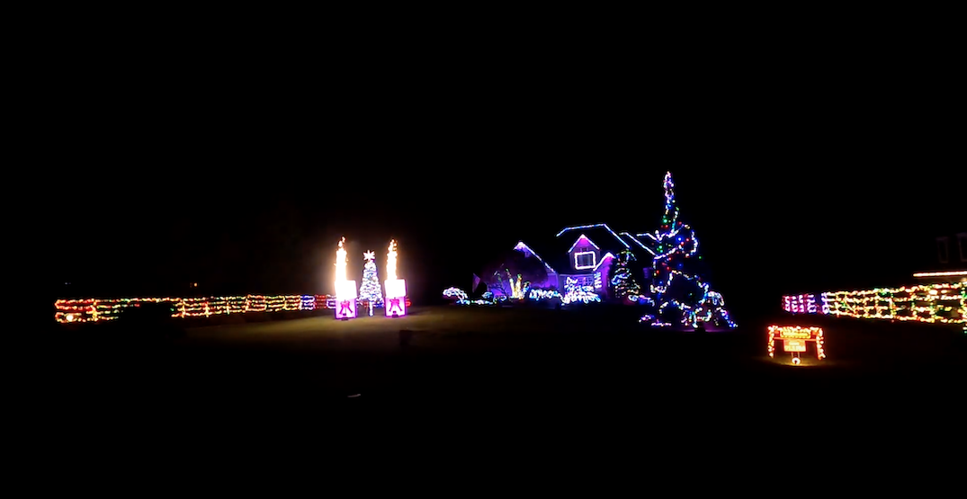 A Redmond house has created a Christmas lights masterpiece