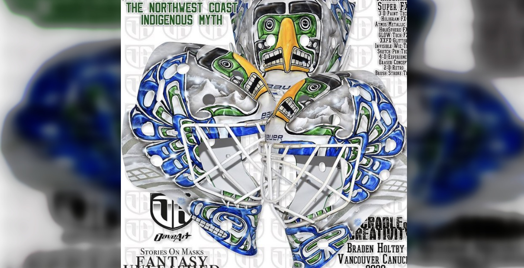 Canucks goalie apologizes after accusations of cultural appropriation for new helmet