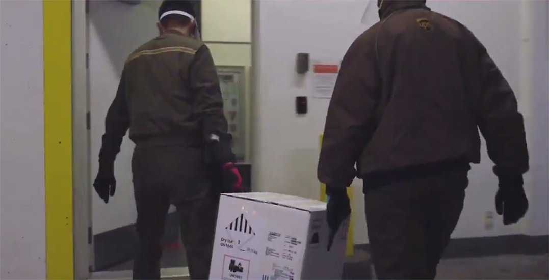 Watch the first Pfizer COVID-19 vaccine arrive in BC (VIDEO)