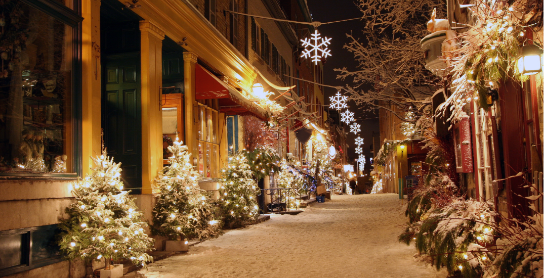 Which Canadian cities can expect a white Christmas this year