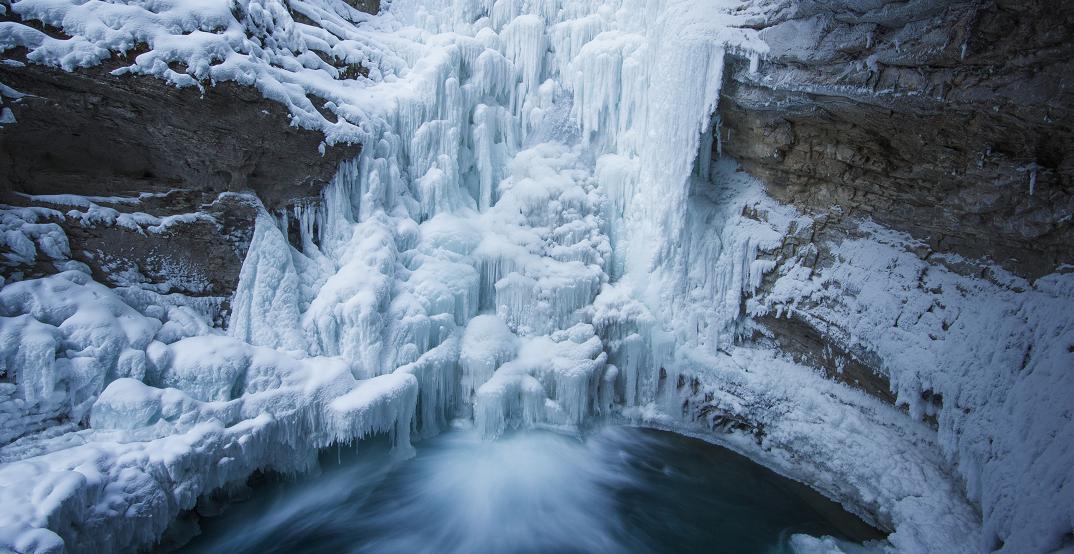 This Alberta waterfall has frozen into a stunning winter wonderland (PHOTOS)