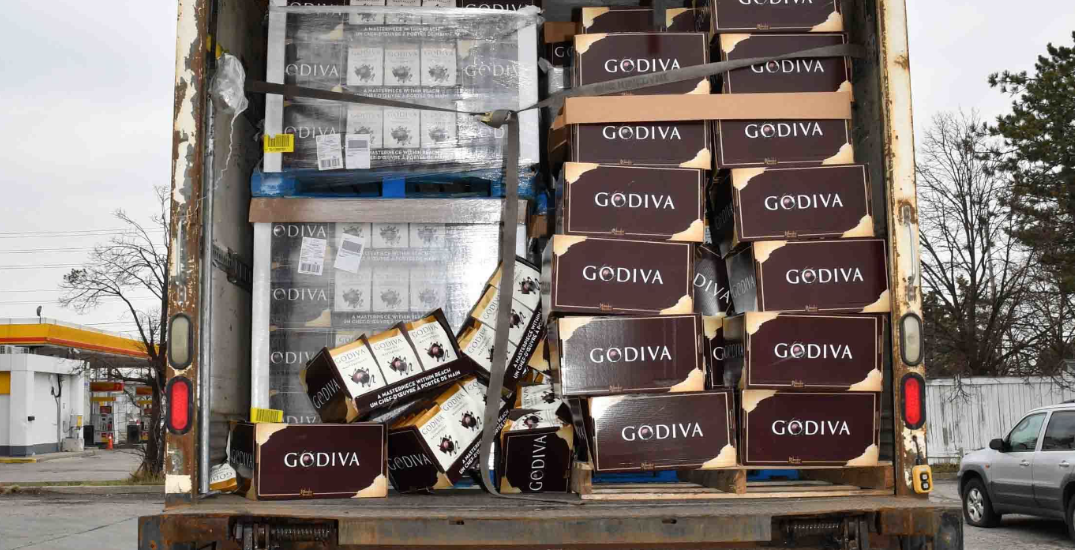 Over $600,000 worth of stolen chocolate, nuts recovered in Toronto and Vaughan