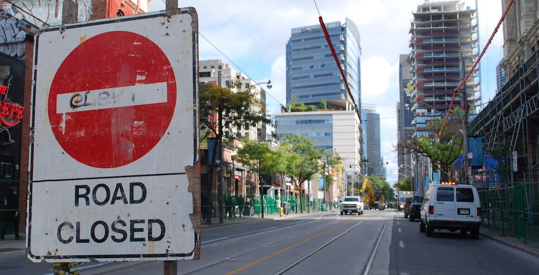 Here are the road closures in Toronto this weekend