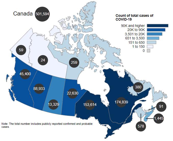 Canada COVID-19 cases
