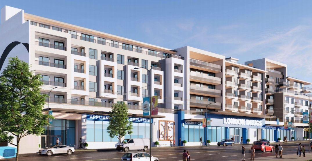 New London Drugs and 150 rental homes proposed for East Hastings near PNE