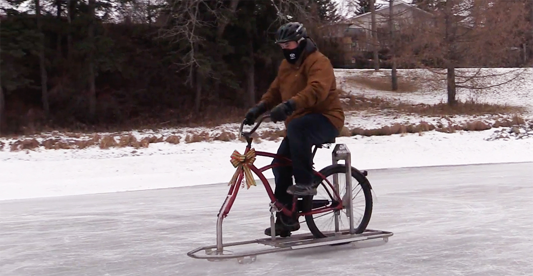 Ice bikes are the newest winter phenomenon in this Canadian city