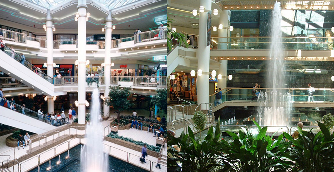 CF Pacific Centre mall once had a massive atrium with a waterfall (PHOTOS)