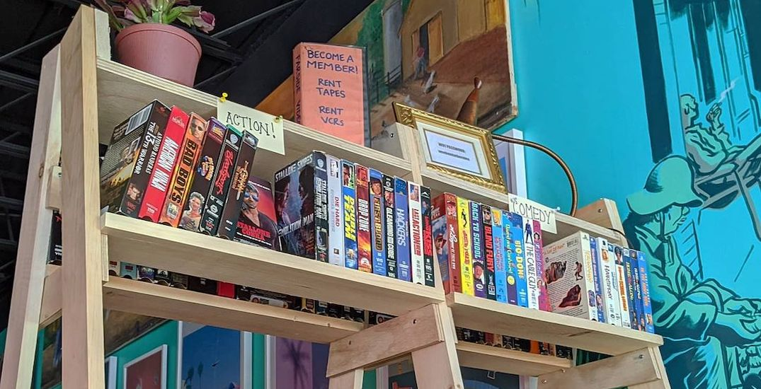 You can rent classic VHS movies at this Toronto bottle shop