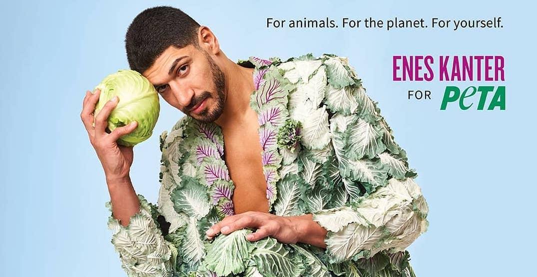 Portland Trail Blazers center Enes Kanter joins PETA in promoting veganism (PHOTOS)