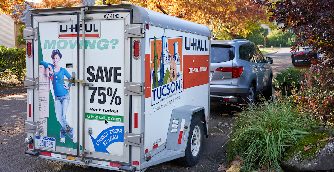Growing number of Canadians migrating to BC by U-Haul during COVID-19