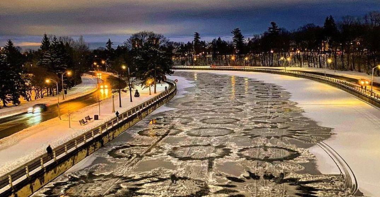 'Crop circle' patterns appear on Ottawa's Rideau Canal Skateway (PHOTOS)