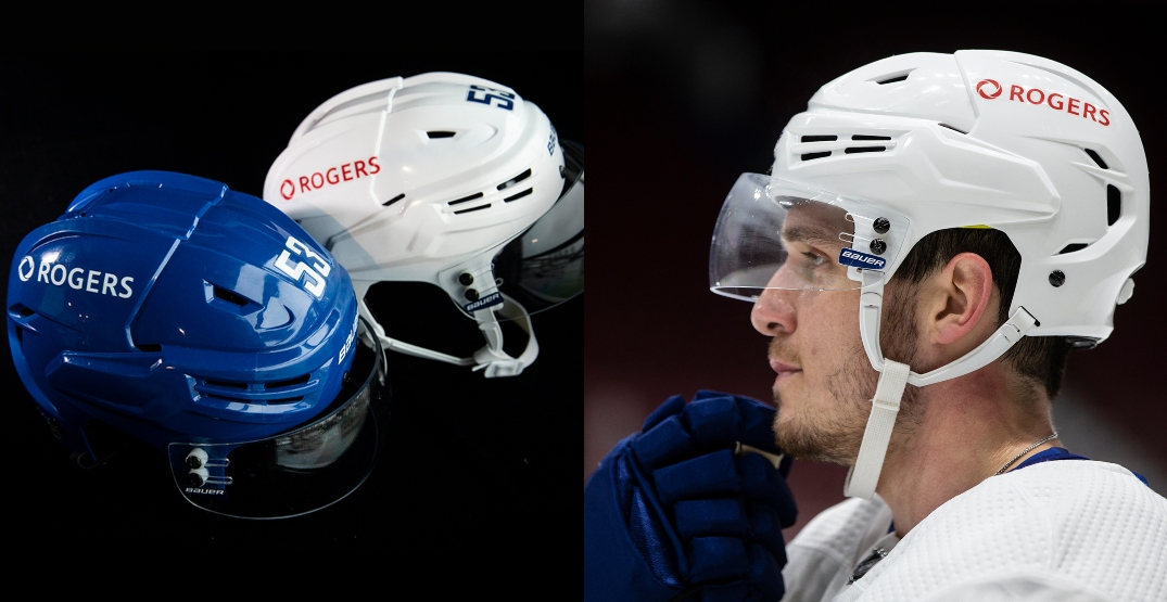Canucks introduce Rogers as first-ever helmet sponsor for next season
