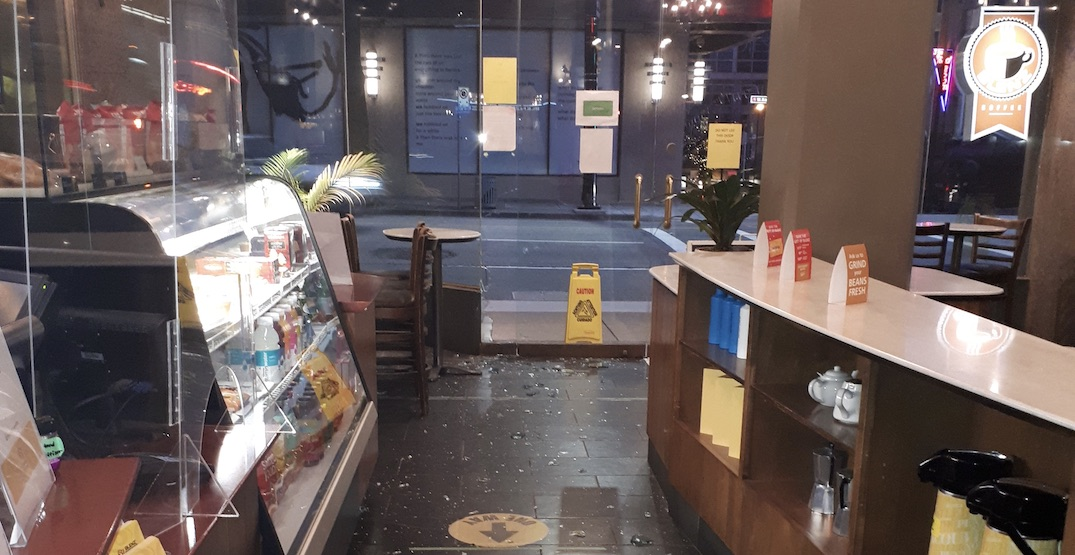 Blenz Coffee location broken into twice in 10 days in Vancouver