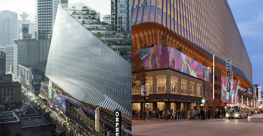 Iconic entertainment, office, and retail complex proposed for Granville and Robson (RENDERINGS)