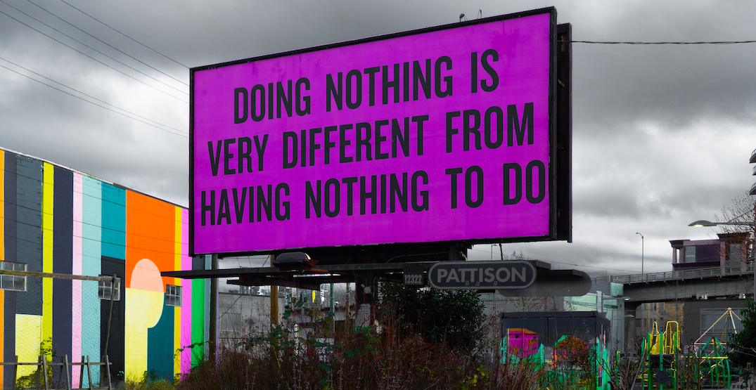 Billboards along Arbutus Greenway take on public art by Douglas Coupland (PHOTOS)