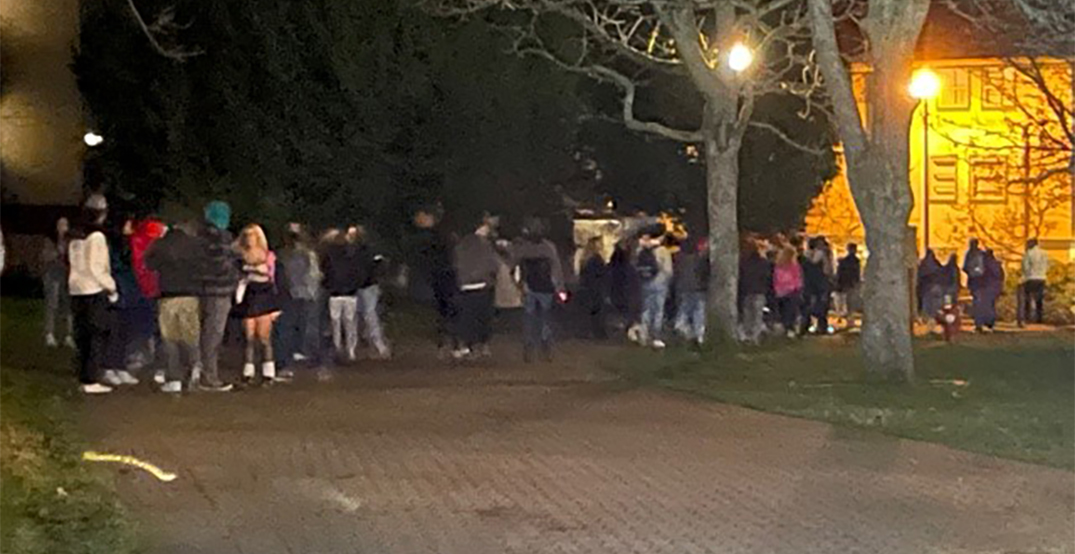 Police break up 100-person party at UVic for violating COVID-19 rules