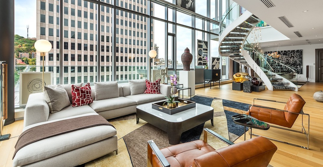 Inside a $12.9 million private penthouse for sale in Montreal (PHOTOS)