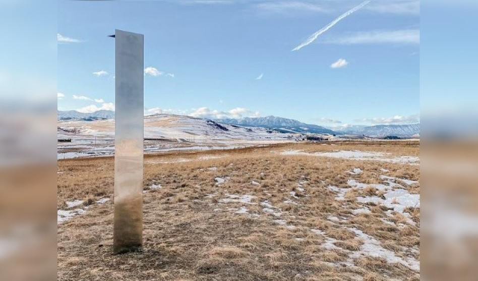 Another monolith mysteriously appears just outside Calgary