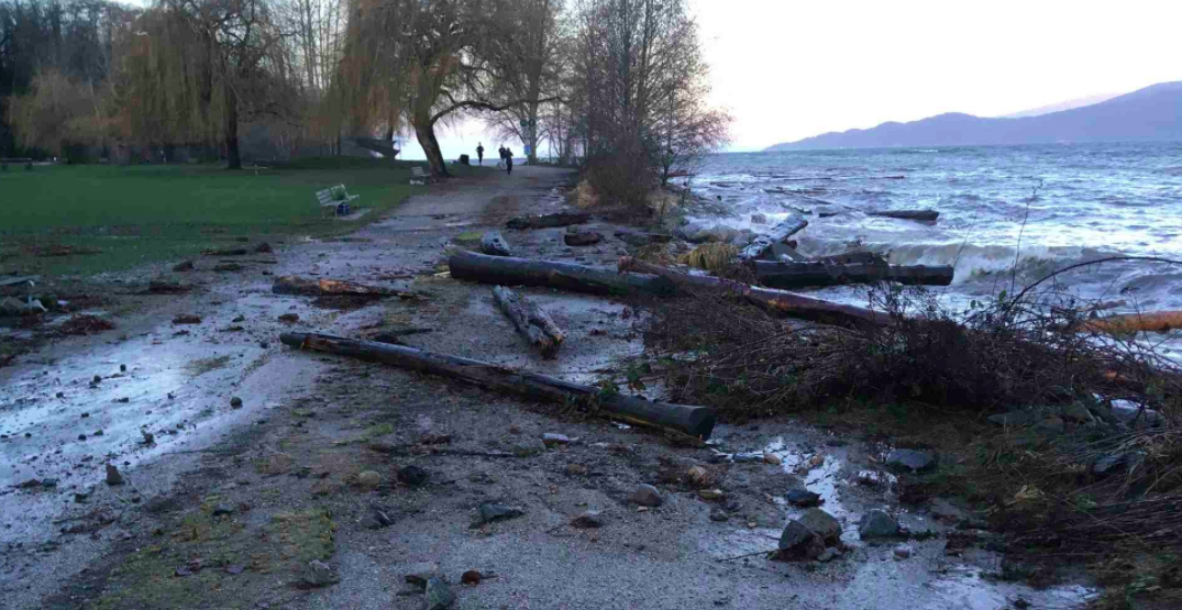 Windstorm forces closure on part of Seawall
