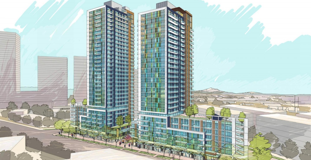 Two towers with 573 rental homes proposed near Marine Drive Station (RENDERINGS)