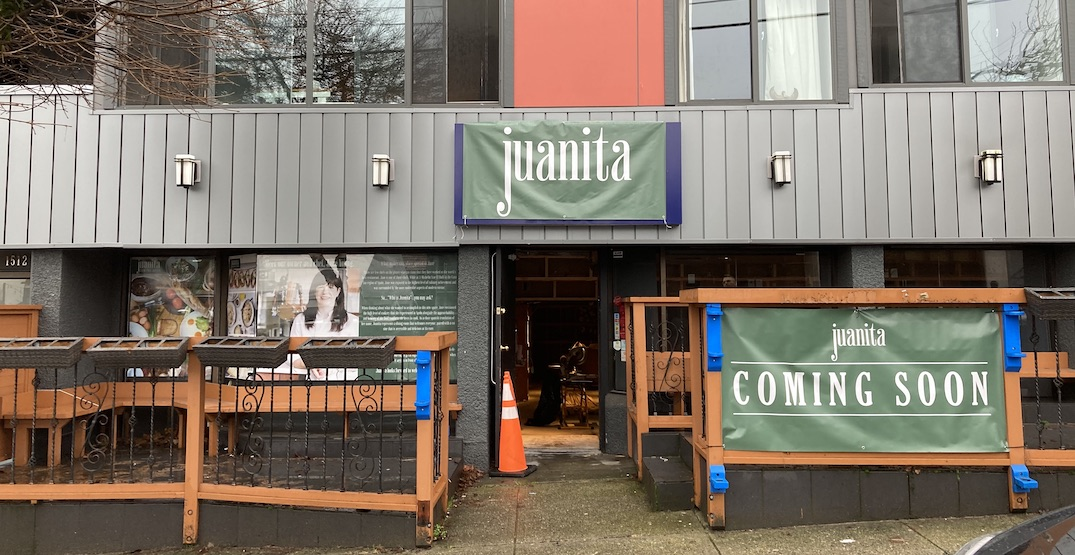 'Juanita' slated to open in Kitsilano later this winter