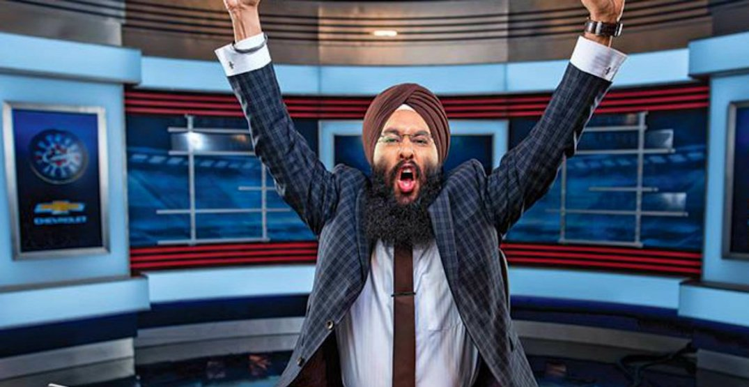Harnarayan Singh calling play-by-play of tonight's Canucks-Oilers game