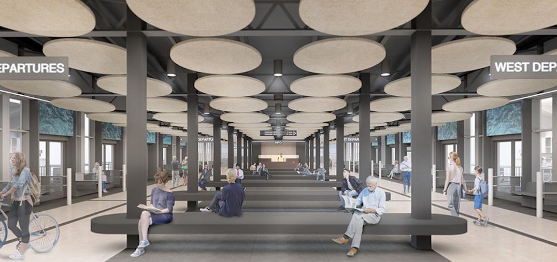 seabus terminal interior renovations