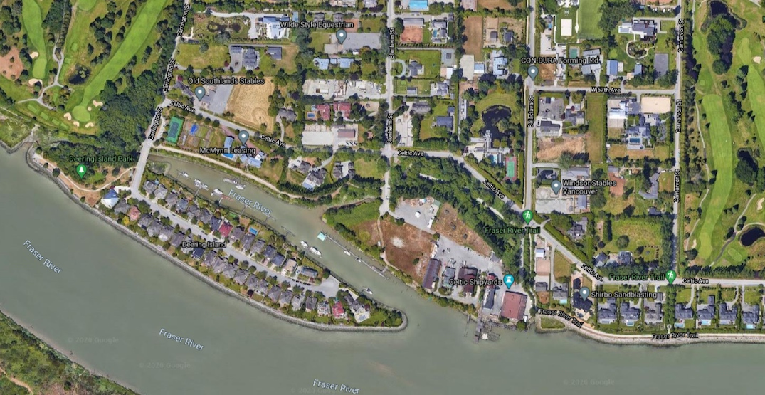 Proposal to subdivide 8-acre Fraser River lot in Vancouver's Southlands