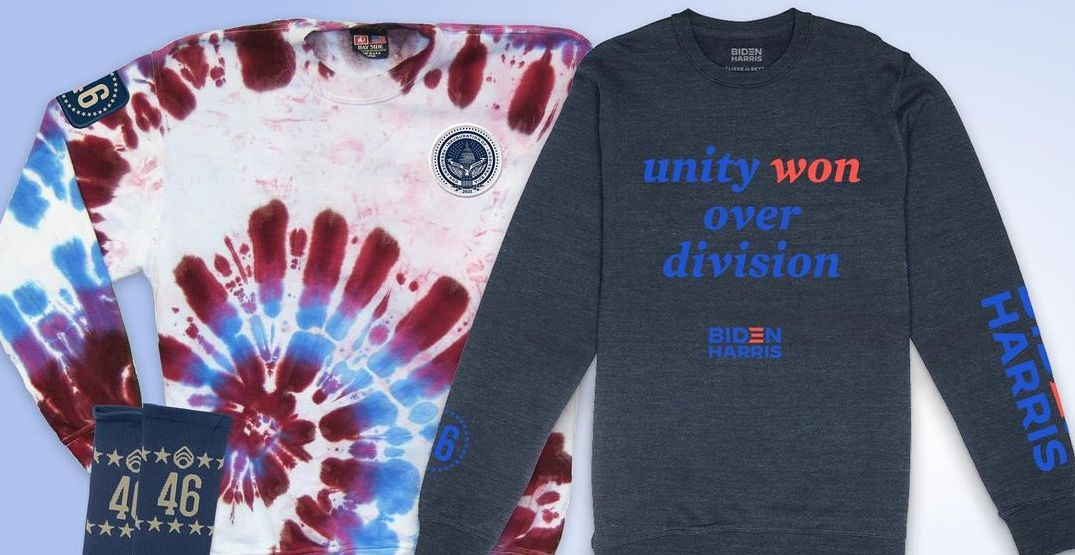"""""""Celebrating America"""" inauguration merchandise is now available online"""