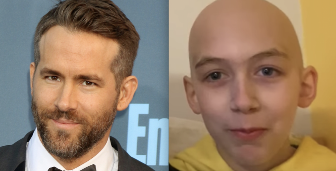 Ryan Reynolds sends message of support to BC boy with cancer (VIDEO)