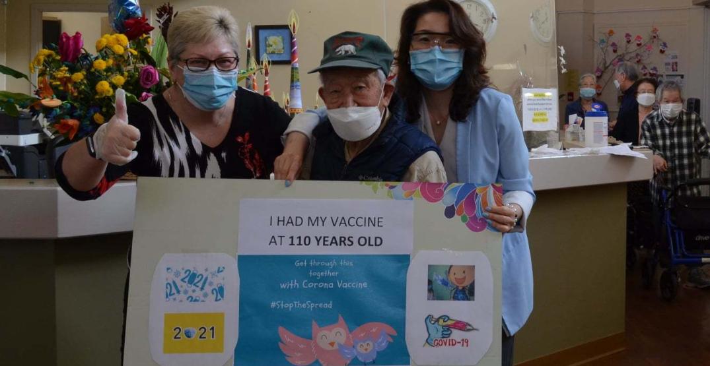 """Canada's oldest senior"" receives COVID-19 vaccine"