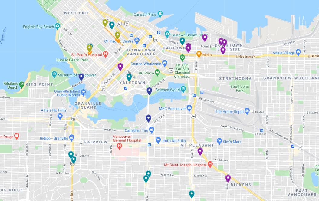 vancouver pop-up plaza map