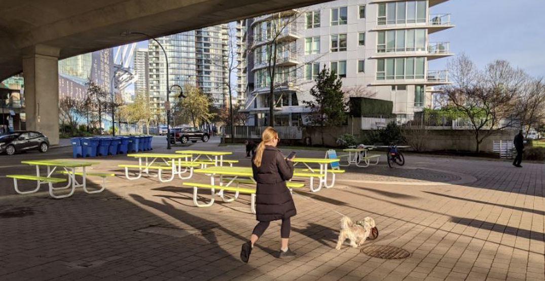 Four new pop-up plazas installed under Burrard and Cambie bridges