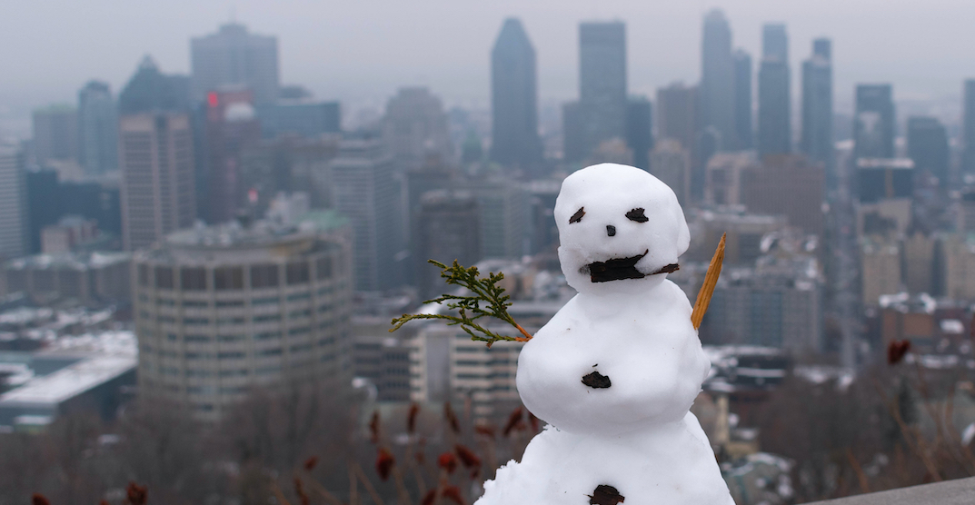 A snowman-building contest is taking place across Montreal (PHOTOS)