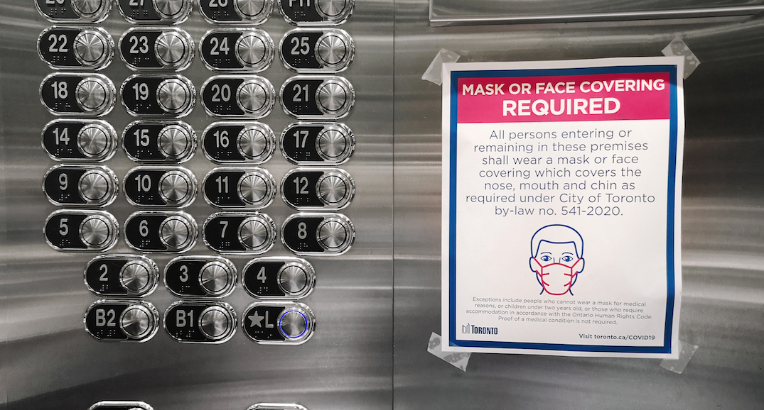 Toronto receives almost 2,000 complaints about residents not wearing masks in condos